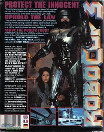 Box back cover for RoboCop 3 on the Microsoft DOS.