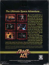 Box back cover for Space Ace on the Microsoft DOS.