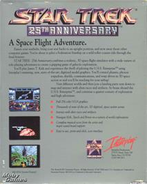 Box back cover for Star Trek - 25th Anniversary on the Microsoft DOS.