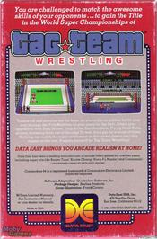 Box back cover for Tag Team Wrestling on the Microsoft DOS.