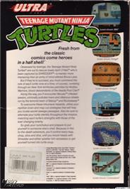 Box back cover for Teenage Mutant Ninja Turtles on the Microsoft DOS.