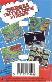 Box back cover for Thomas the Tank Engine & Friends on the Microsoft DOS.