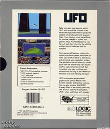 Box back cover for UFO on the Microsoft DOS.