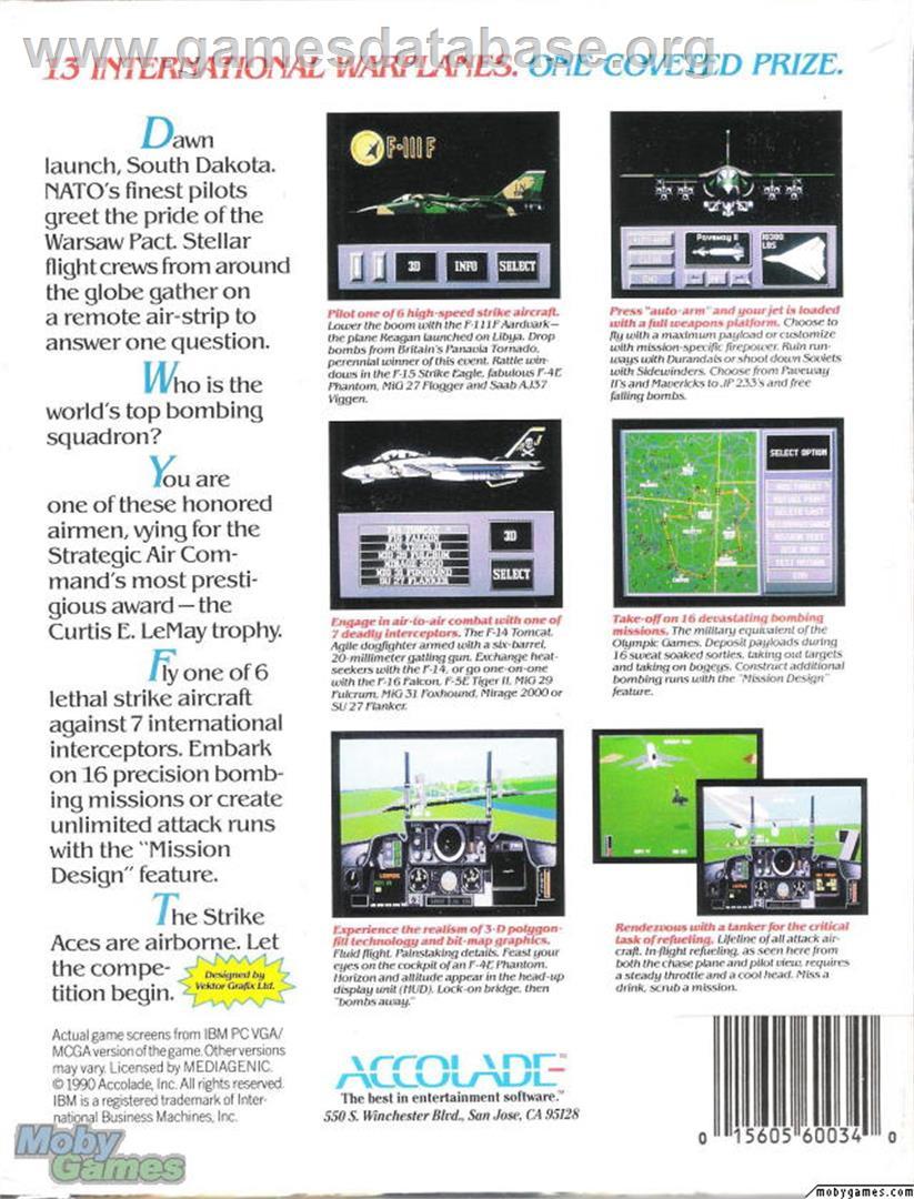 Strike Aces - Microsoft DOS - Artwork - Box Back