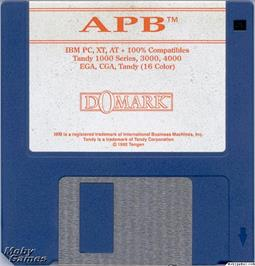 Artwork on the Disc for APB on the Microsoft DOS.