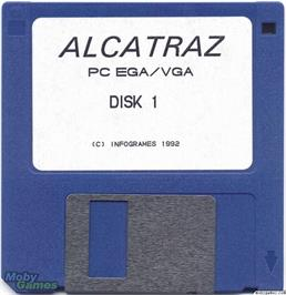 Artwork on the Disc for Alcatraz on the Microsoft DOS.