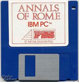 Artwork on the Disc for Annals of Rome on the Microsoft DOS.