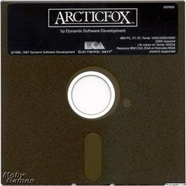 Artwork on the Disc for Arcticfox on the Microsoft DOS.