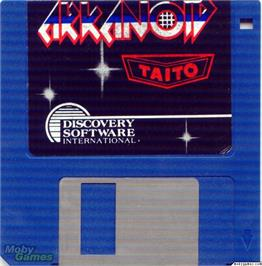 Artwork on the Disc for Arkanoid on the Microsoft DOS.