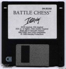Artwork on the Disc for Battle Chess on the Microsoft DOS.