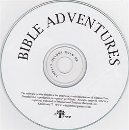 Artwork on the Disc for Bible Adventures on the Microsoft DOS.