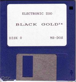 Artwork on the Disc for Black Gold on the Microsoft DOS.