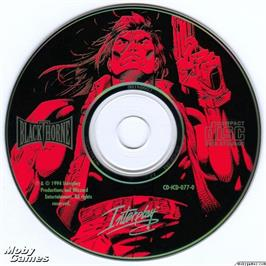 Artwork on the Disc for Blackthorne on the Microsoft DOS.