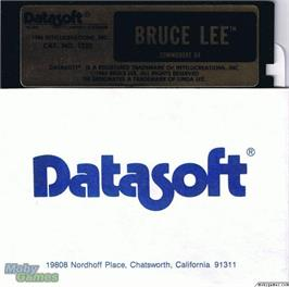 Artwork on the Disc for Bruce Lee on the Microsoft DOS.