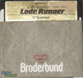 Artwork on the Disc for Championship Lode Runner on the Microsoft DOS.