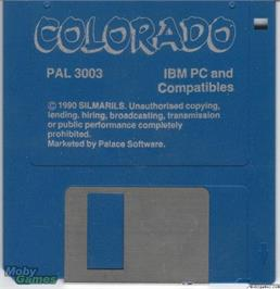 Artwork on the Disc for Colorado on the Microsoft DOS.