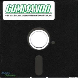Artwork on the Disc for Commando on the Microsoft DOS.