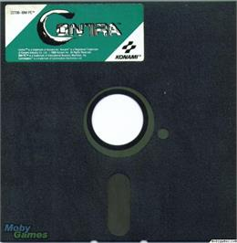 Artwork on the Disc for Contra on the Microsoft DOS.