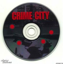Artwork on the Disc for Crime City on the Microsoft DOS.