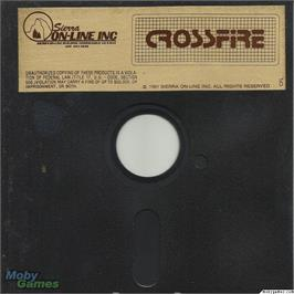 Artwork on the Disc for Crossfire on the Microsoft DOS.