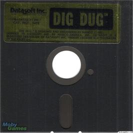Artwork on the Disc for Dig Dug on the Microsoft DOS.
