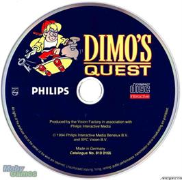 Artwork on the Disc for Dimo's Quest on the Microsoft DOS.