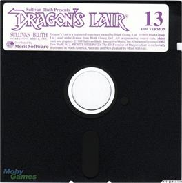 Artwork on the Disc for Dragon's Lair on the Microsoft DOS.