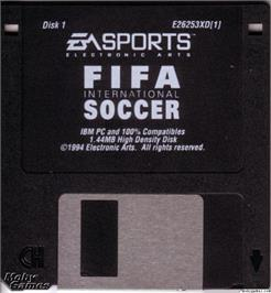Artwork on the Disc for FIFA International Soccer on the Microsoft DOS.