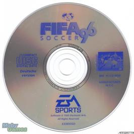 Artwork on the Disc for FIFA Soccer 96 on the Microsoft DOS.