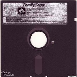 Artwork on the Disc for Family Feud on the Microsoft DOS.