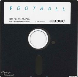 Artwork on the Disc for Football on the Microsoft DOS.
