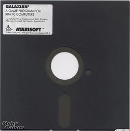 Artwork on the Disc for Galaxian on the Microsoft DOS.
