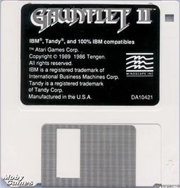 Artwork on the Disc for Gauntlet II on the Microsoft DOS.