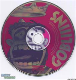Artwork on the Disc for Gobliiins on the Microsoft DOS.