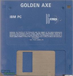 Artwork on the Disc for Golden Axe on the Microsoft DOS.