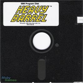 Artwork on the Disc for Heavy Barrel on the Microsoft DOS.