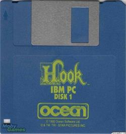 Artwork on the Disc for Hook on the Microsoft DOS.