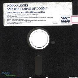 Artwork on the Disc for Indiana Jones and the Temple of Doom on the Microsoft DOS.