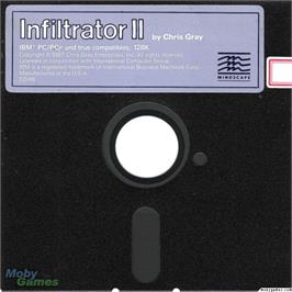 Artwork on the Disc for Infiltrator II on the Microsoft DOS.