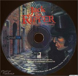 Artwork on the Disc for Jack the Ripper on the Microsoft DOS.