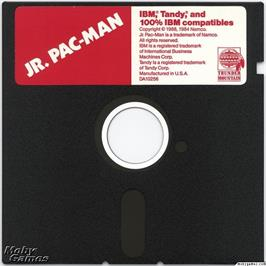Artwork on the Disc for Jr. Pac-Man on the Microsoft DOS.