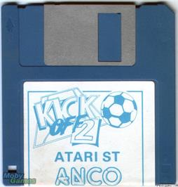 Artwork on the Disc for Kick Off 2 on the Microsoft DOS.