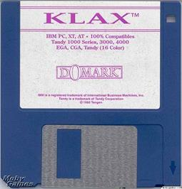Artwork on the Disc for Klax on the Microsoft DOS.