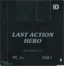 Artwork on the Disc for Last Action Hero on the Microsoft DOS.