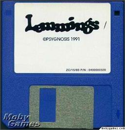 Artwork on the Disc for Lemmings on the Microsoft DOS.