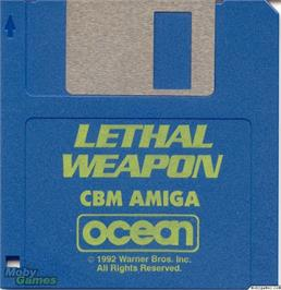 Artwork on the Disc for Lethal Weapon on the Microsoft DOS.