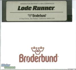 Artwork on the Disc for Lode Runner on the Microsoft DOS.