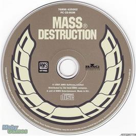 Artwork on the Disc for Mass Destruction on the Microsoft DOS.