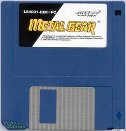 Artwork on the Disc for Metal Gear on the Microsoft DOS.