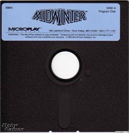 Artwork on the Disc for Midwinter on the Microsoft DOS.